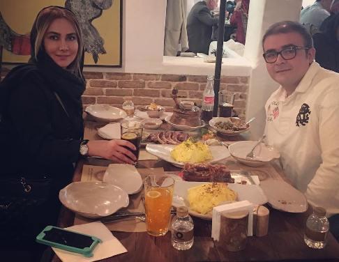 عکس یادگاری آنا نعمتی و برادرش در رستوران , عکس بازیگران