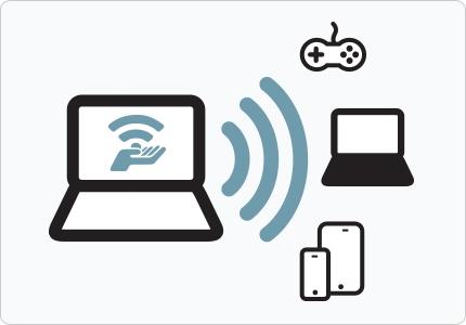 اشتراک گذاری اینترنت لپ تاپ,تبدیل لپ تاپ به مودم وای فای,تبدیل لپ تاپ به مودم وایرلس,مودم مجازی در لپ تاپ,ساخت مودم وای فای با لپ تاپ, ترفند,اشتراک,مودم