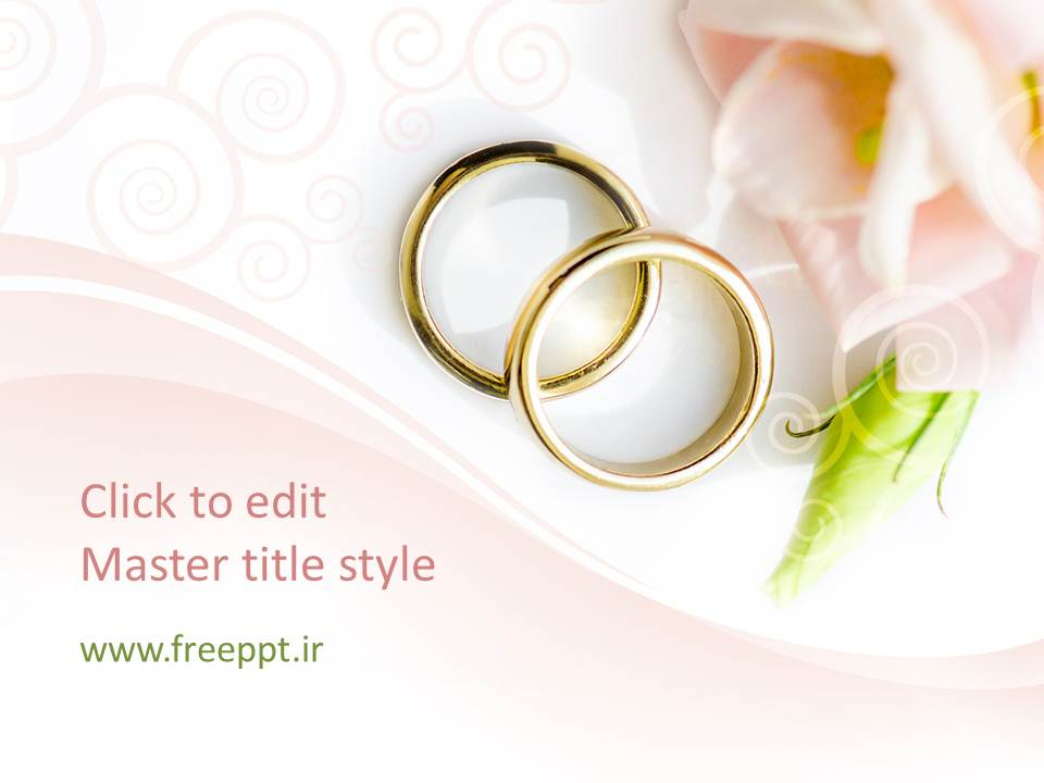 قالب پاورپوینت حلقه های ازدواج