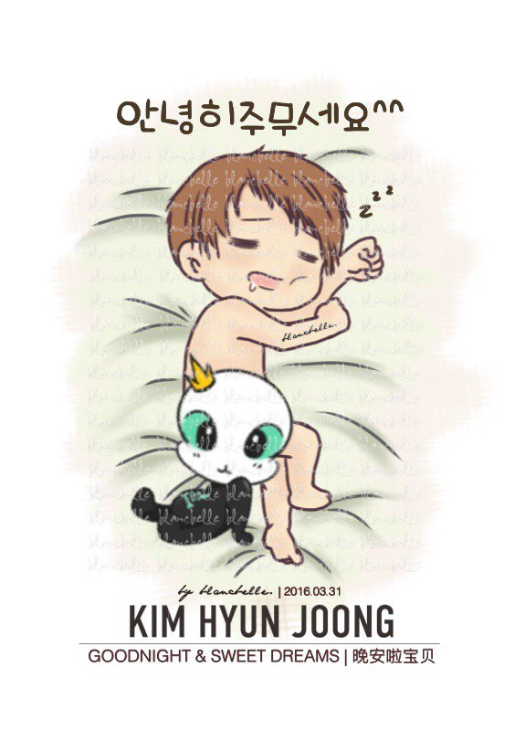 [blancbelle Fanart] Kim Hyun Joong - Good Night and Sweet Dreams [2016.03.31]