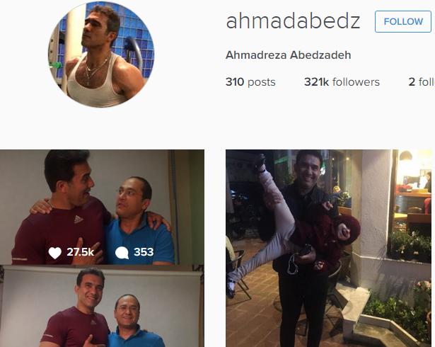 آخرین عکس  پروفایل اینستاگرام احمدرضا عابدزاده
