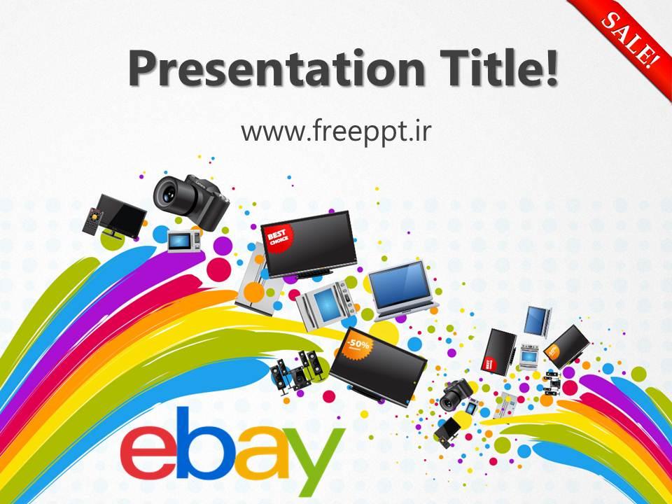 قالب پاورپوینت آرم ebay