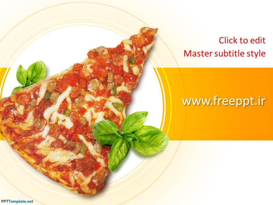 قالب آماده پاورپوینت پیتزا