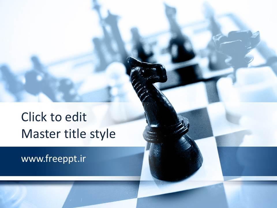 قالب پاورپوینت اسب شطرنج