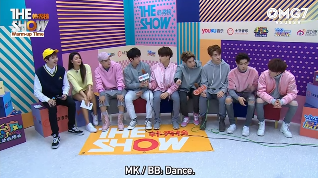 160329 The Show Warm up Time Interview - GOT7