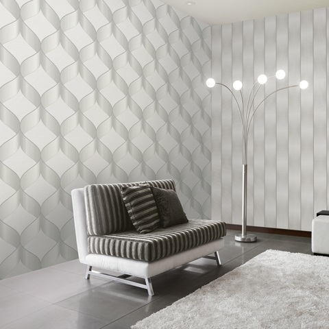 اجرای کاغذ دیواری سه بعدی- کاغذ دیواری آرکس