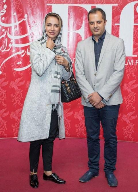 شبنم قلی خانی و همسرش در جشنواره جهانی فجر , عکس بازیگران