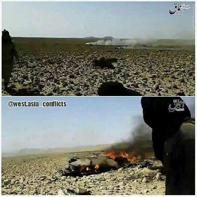 سقوط جنگنده سوری توسط داعش