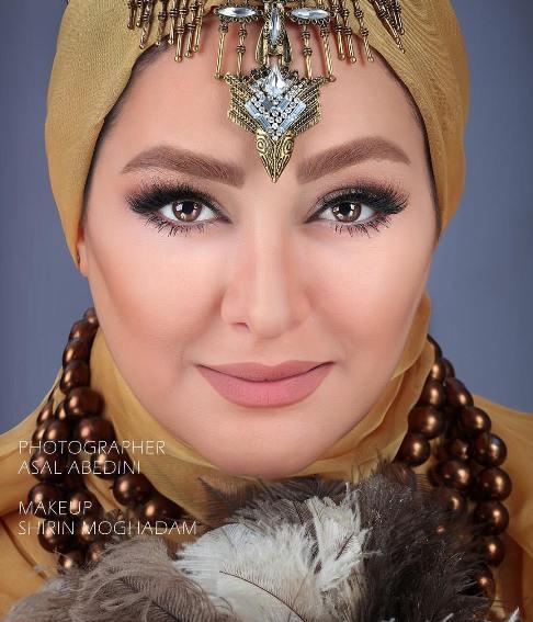 عکس های الهام حميدی بعنوان یک مدل آرایشی! , عکس بازیگران