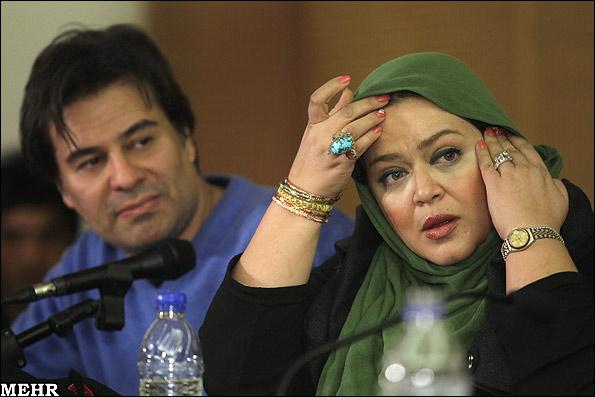 بهاره رهنما در کنار همسرش پیمان قاسم خانی