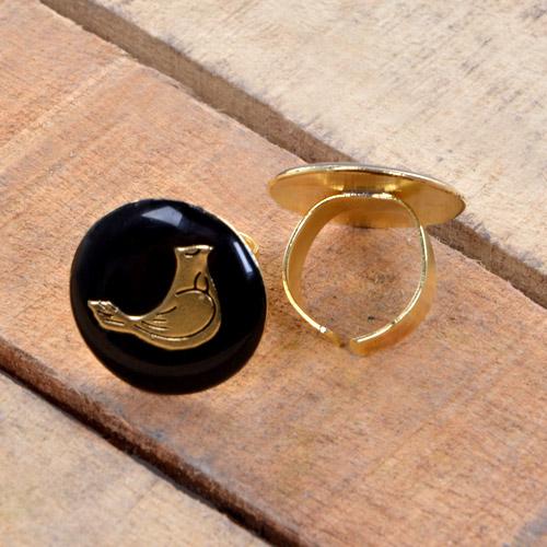 انگشتر مرغ آمين طلايي
