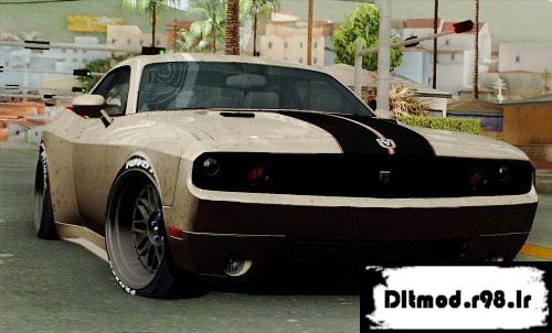 دانلود مود ماشین Dodge Challenger GTS برای Gta San
