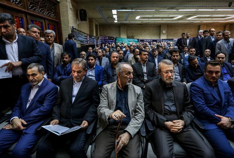 عکسهای مراسم ختم مادر دکتر نوبخت در مسجد نور میدان فاطمی تهران