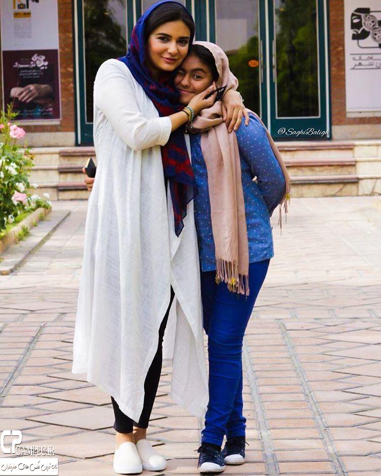 لیندا کیانی با خواهر زادش عسل