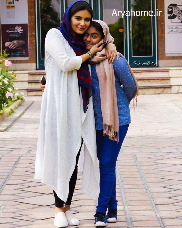 عکسهای جدید لیندا کیانی با خواهر زادش عسل , عکس بازیگران