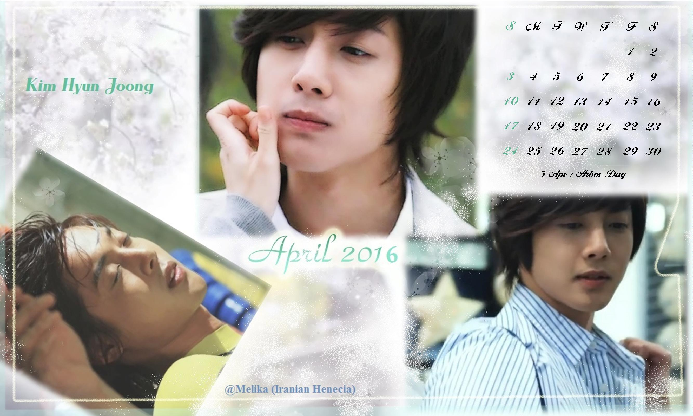 Calendar of April 2016 - Fanart by Melika