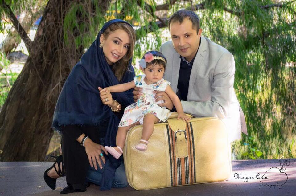 شبنم قلی خانی با همسر و دخترش