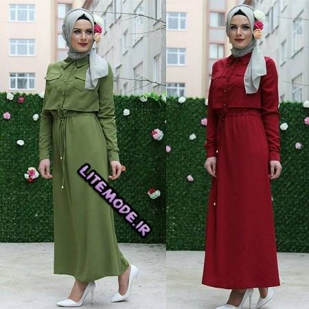 مدل لباس مجلسی باحجاب 2017, لباس پوشیده شیک