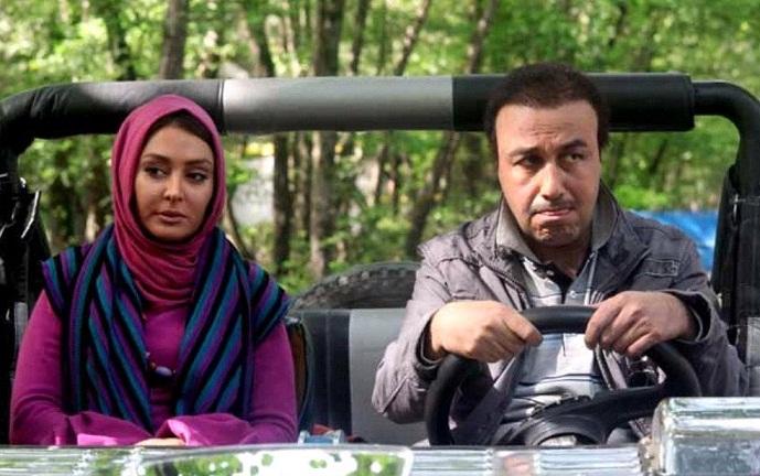 عکس رضا عطاران و الهام حمیدی در فیلم سه درجه تب