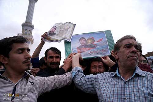 پیکرهای هشت شهید مدافع حرم قم