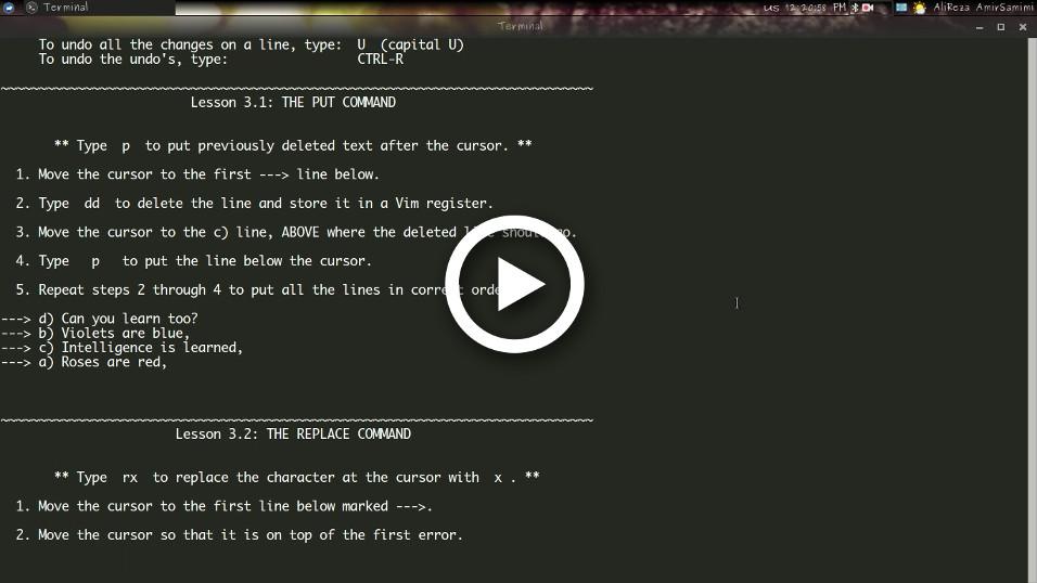 آموزش Vim قسمت سوم