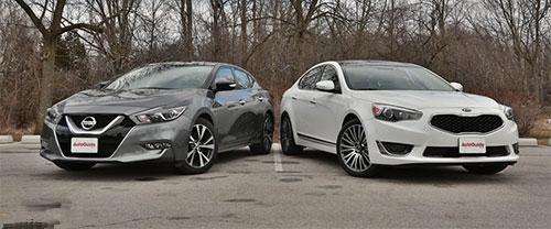 مقایسه دو خودروی زیبا و پرطرفدار ماکسیما و کیا کادنزا , اتومبیل ها