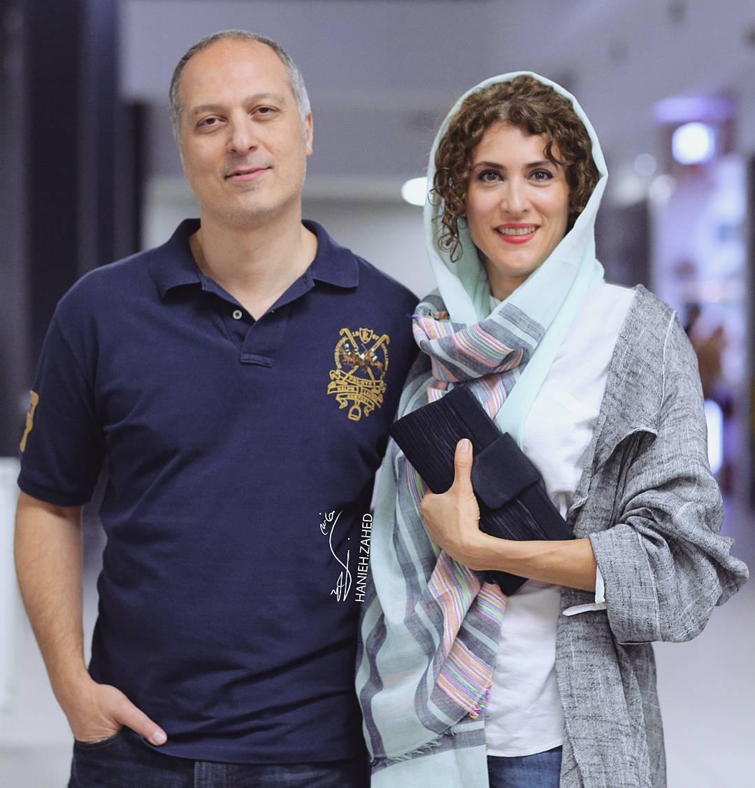 ویشکا آسایش و همسرش در اکران فیلم اژدها وارد میشود