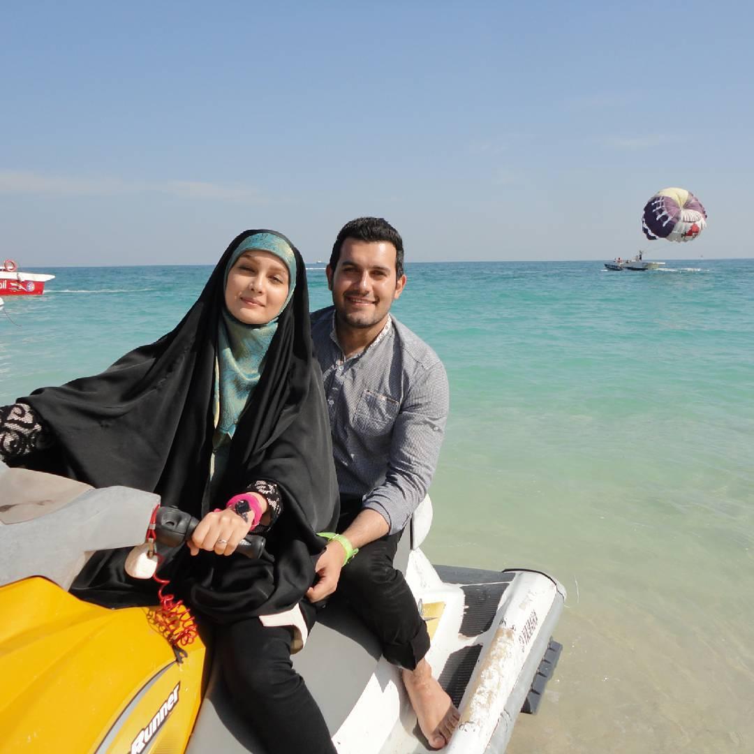 عکس شخصی مژده خنجری با همسرش