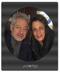 بیوگرافی و عکسهای مجید مشیری با همسرش
