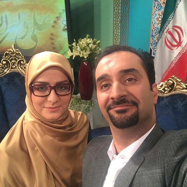 عکس نیما کرمی با همسرش زینب زارع
