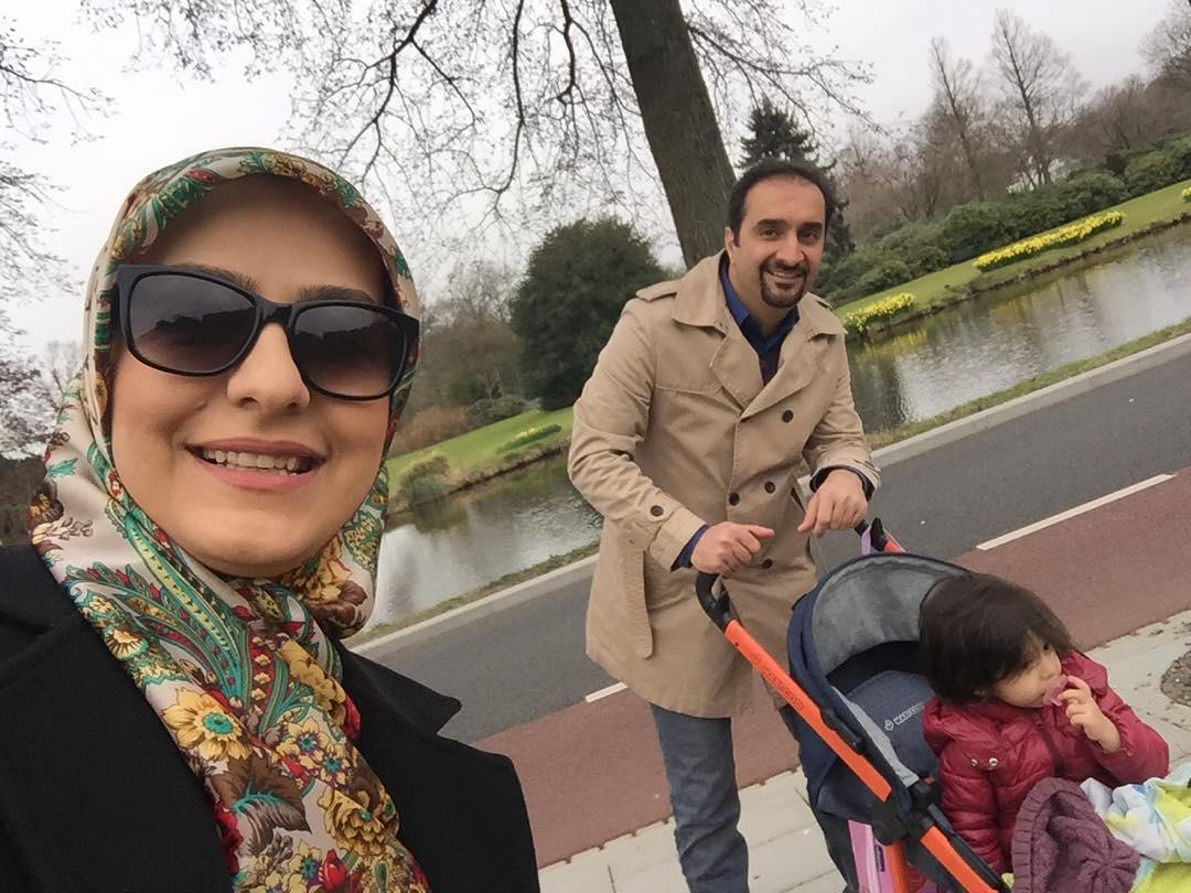 نیما کرمی و همسر و فرزندش