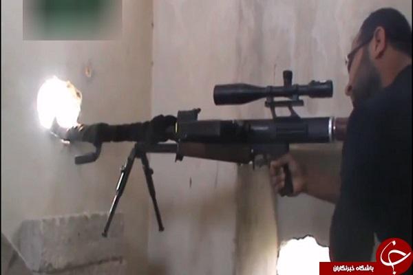 نبرد تک تیراندازان سوری و داعشی + فیلم و عکس , بین الملل