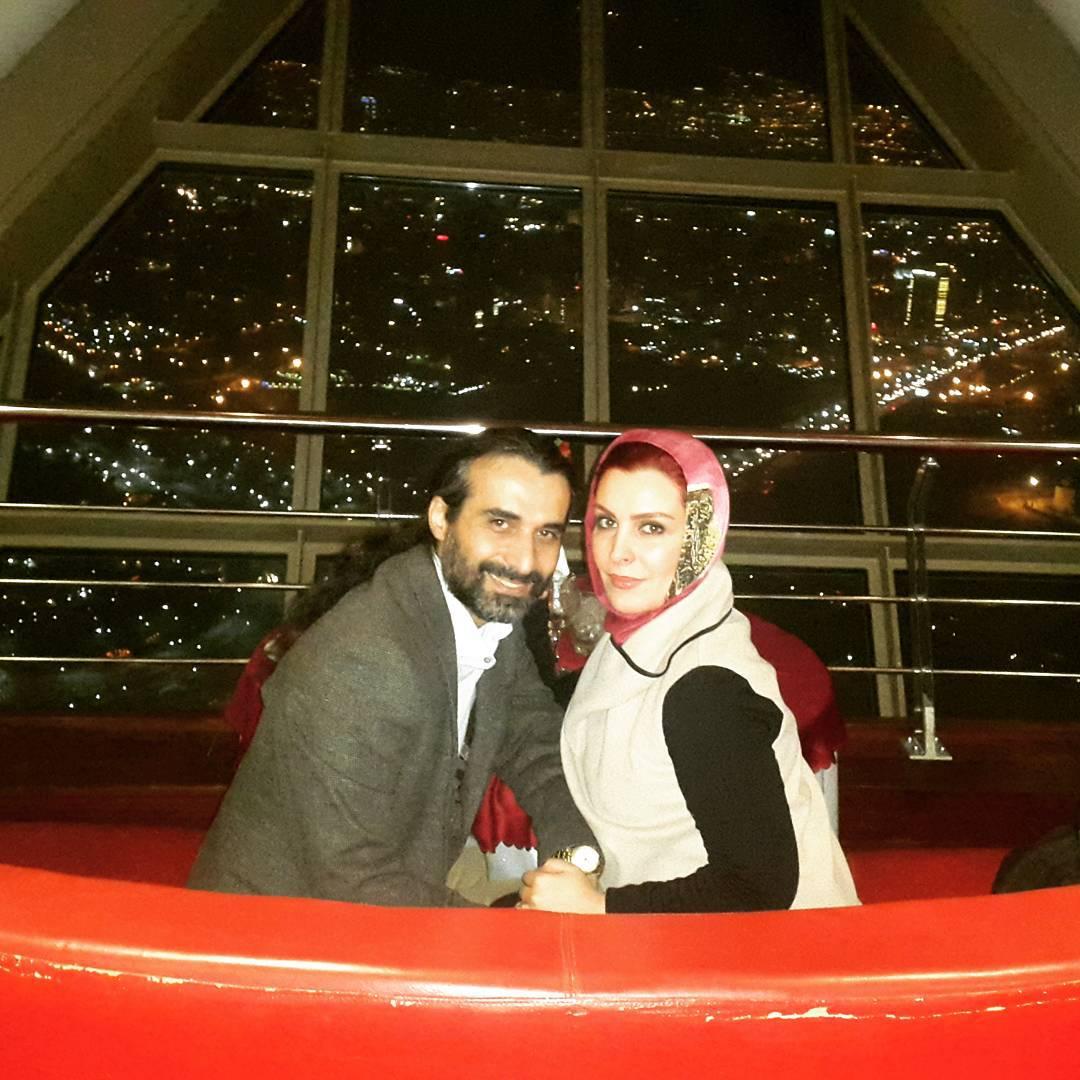 عکس جدید ماه چهره خلیلی با همسرش