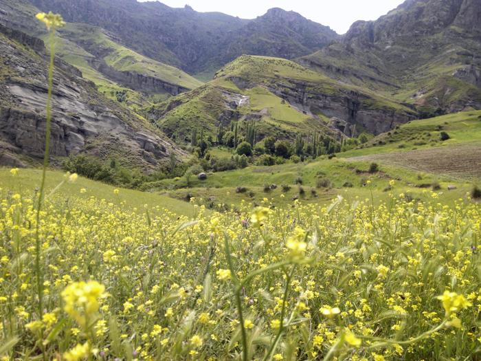 منظره زیبا روستای دومولی