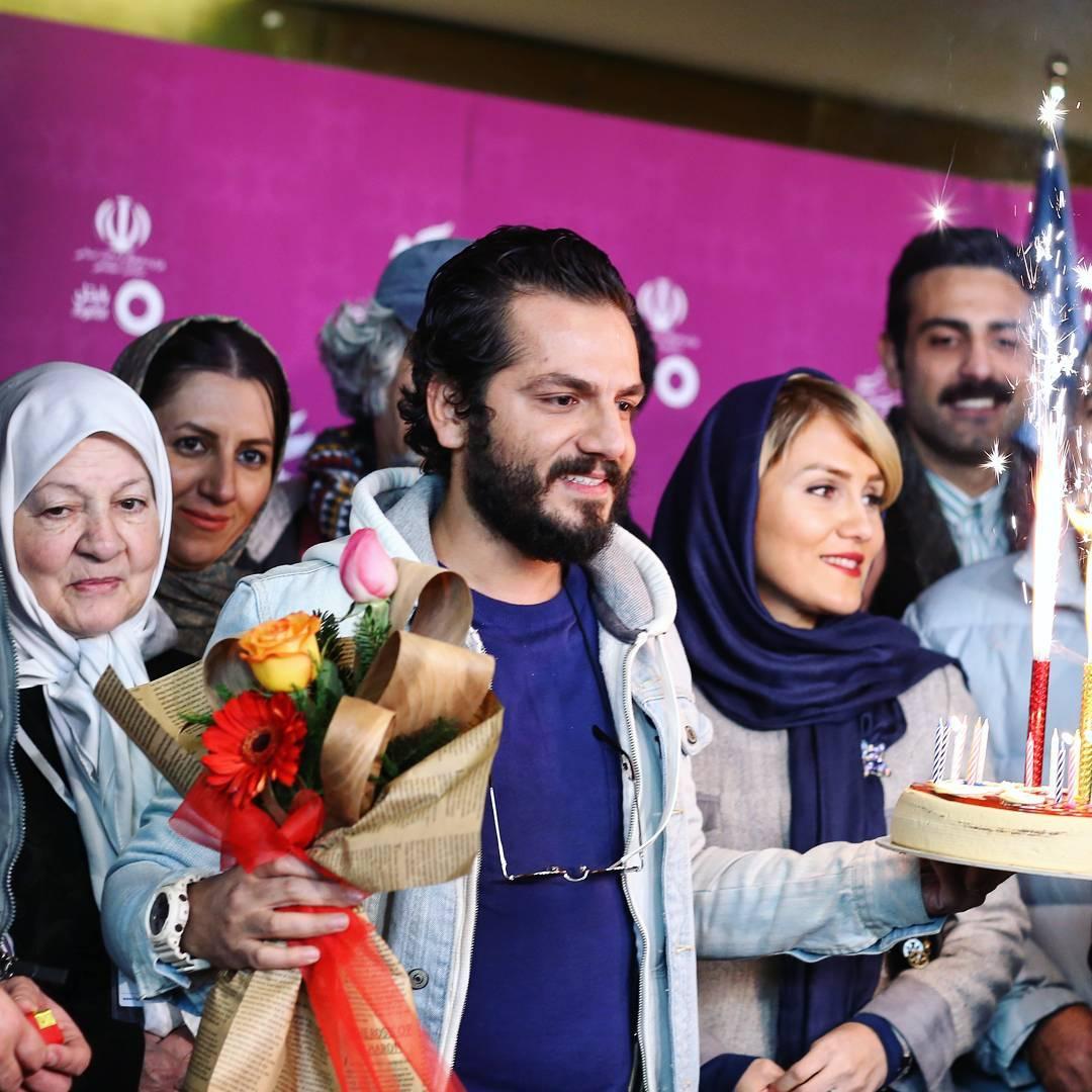 عکس عباس غزالی با همسرش