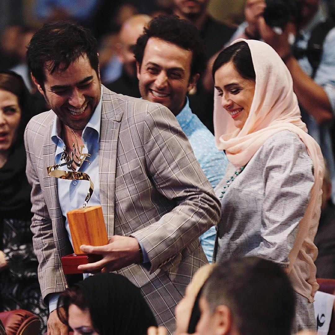 شهاب حسینی در جشن پایان سریال شهرزاد