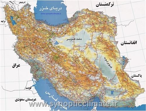 دانلود نقشه راه های ایران با بزرگ نمایی بی نهایت