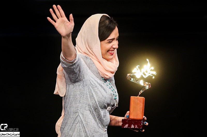 ترانه علیدوستی در جشن پایان سریال شهرزاد