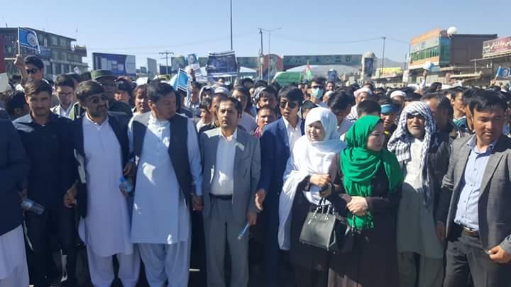 تصاویری از  تظاهرات میلیونی جنبش روشنایی در کابل