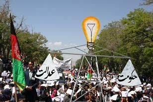 حمایت قاطع شهروندان شهر غزنی از جنبش روشنایی