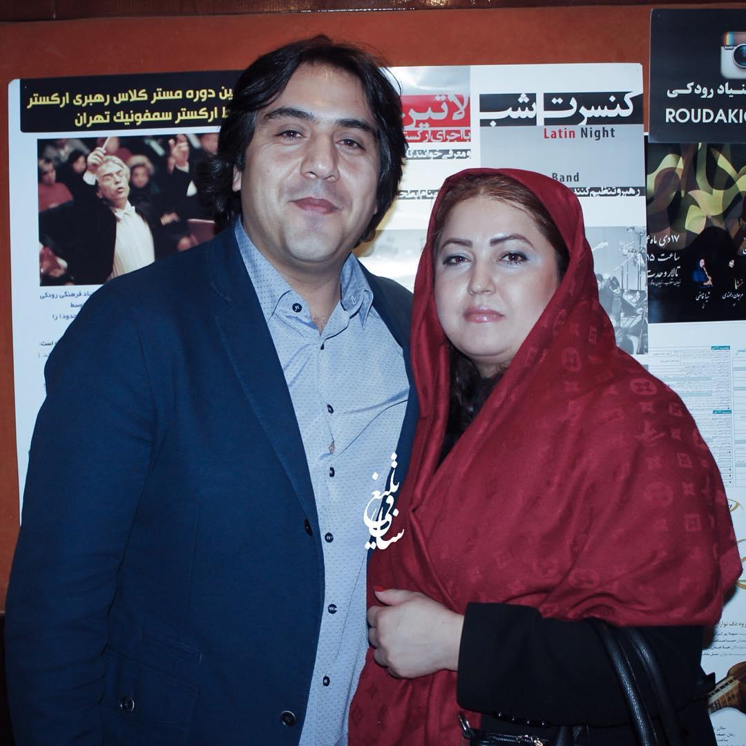 عکس مانی رهنما با همسرش