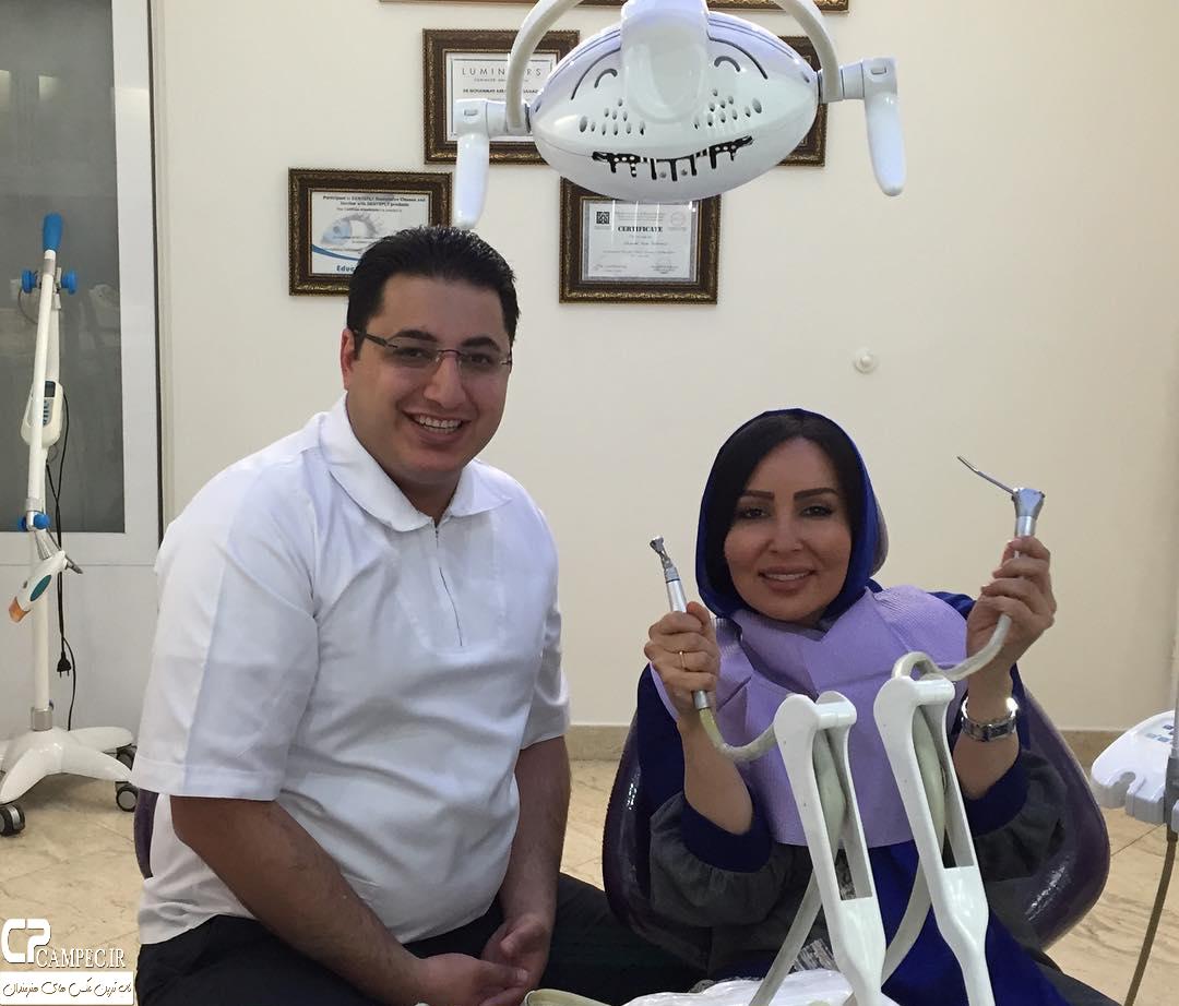 پرستو صالحی در مطب دندان پزشکی