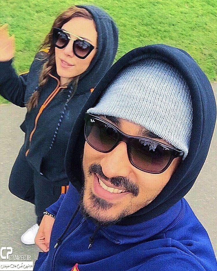 عکس شخصی رضا قوچان نژاد و همسرش سروین بیات