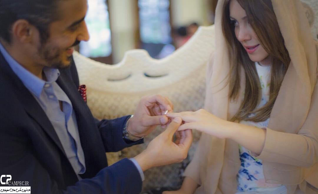 رضا قوچان نژاد و همسرش سروین بیات