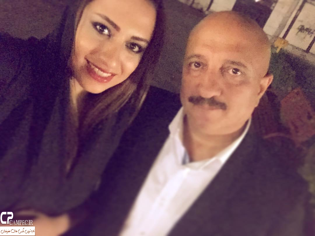 مسعود روشن پژوه با دخترش
