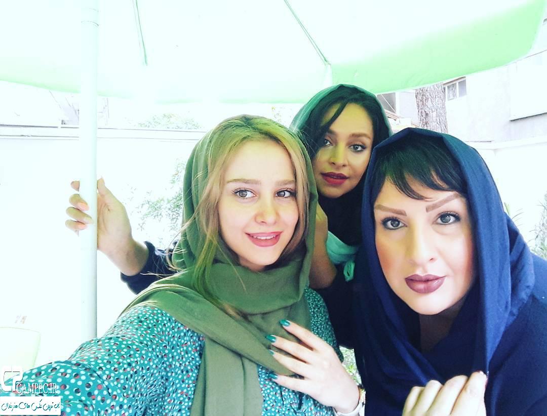 عکس الناز حبیبی با دوستاش