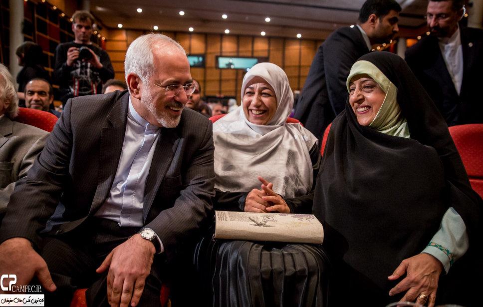 محمد جواد ظریف و همسرش در اختتامیه جشنواره فیلم سبز