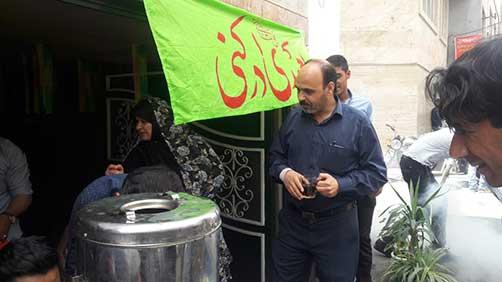 ایستگاه صلواتی هیئت زوّارالحسین(ع)در محل حسینیه شهید محمد علی ت آبادی