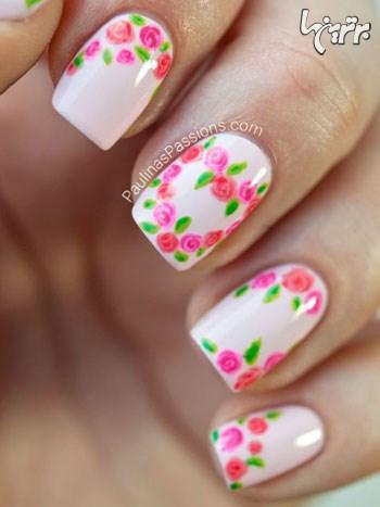 طرح های گلدار ناخن برای بهار 95 , آرایش و زیبایی