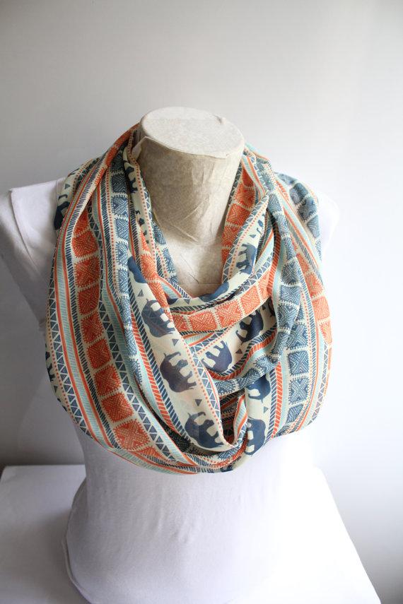 شال گردن پارچه ای زنانه
